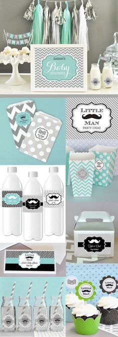Mustache Baby Shower Decor Mustache Party Decorations by ModParty