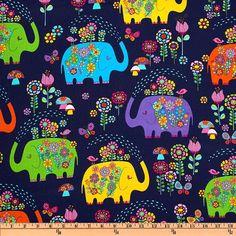 Timeless Treasures Fabric  Elephant by BelloBerryFabricShop, $8.00