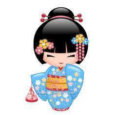 muñeca tela aplicacion kokeshi - Buscar con Google