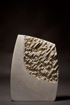 *Wood Sculpture by Thierry Martenon (Spruce) Sculptures Céramiques, Art Sculpture, Pottery Sculpture, Stone Sculpture, Abstract Sculpture, Sculpture Ideas, Ceramic Pottery, Ceramic Art, Thierry Martenon