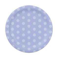 Blue Polka Dot Baby Shower 7 Inch Paper Plate