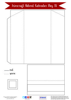 Trimcraft Advent Calendar Day 18- Free Table Place and Napkin Holder Template
