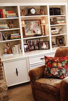 Den built in shelves