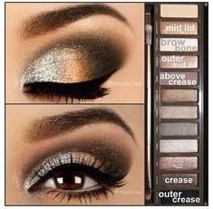 Eye look using Urban Decay Naked Palette - Sin, Naked, Sidecar, Buck Creep, and Gunmetal