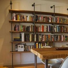 DIY Pipe Fitting Shelf - How to Make a Bookshelf - 10 Simple, Stylish Designs - Bob Vila