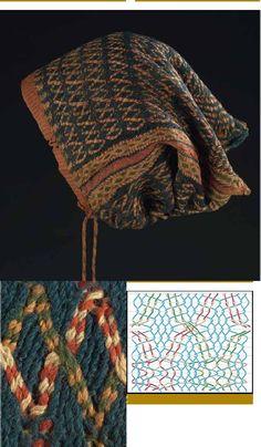 Europe - Belgium/Antwerp (museum), sprang hairnets in the Katoen Natie collection Finger Weaving, Tablet Weaving, Viking Knit, Textiles Techniques, Spring Crafts, String Art, Textile Art, Couture, Fiber Art