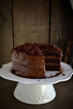 blackout brooklyn cake. La Brooklyn cake è una torta composta da strati morbidi e leggeri al cacao e caffè farcita da una crema densa di cioccolato, dalla consistenza molto simile al budino, glassata e ricoperta da finissime briciole della stessa base