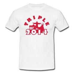 München, Berlin, Lissabon Triple 2014 - Bayern München - T-Shirts selbst gestalten, entwerfen und bedrucken