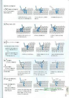 Tunisian crochet Basic Symbols (Japanese)