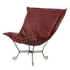 Howard Elliott Avanti Apple Scroll Puff Chair - Titanium Frame