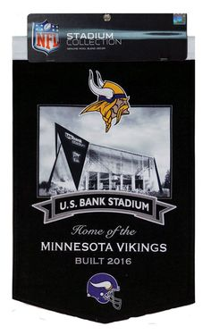 Minnesota Vikings US Bank Stadium 20x15 Wool Banner