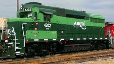 The engine is at the current Aiken Depot on Park Avenue close to the Aiken Visitors Center and Train Museum.