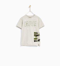 ZARA - KIDS - BRAVE CAMOUFLAGE T-SHIRT