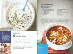 Weight Watchers - Tomatendip // Feestelijke gyrossoep Weight, Cheeseburger Chowder, Soup, Cooking, Mushroom, Tomatoes, Kitchen, Soups, Cuisine