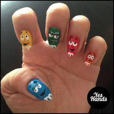 M&M nails, pretty cool huh?