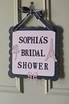Paris Theme Sign Paris Bridal shower Paris by VeroniqueCreations, $25.00
