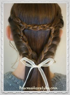 Triangle or heart lace braid tutorial