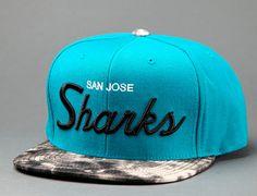 "MITCHELL & NESS x NHL ""San Jose Sharks Dyed Denim"" Snapback Cap"