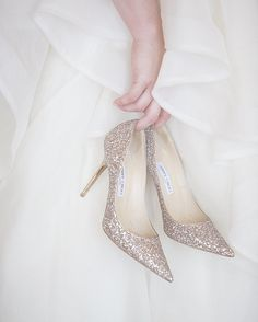 Because who can resist a sparkly pair of What dreams are made of! Let the fairy tale begin. Bridal Shoes, Wedding Shoes, Wedding Planner Uk, Take Me To Church, Glamorous Wedding, Glass Slipper, Dream Shoes, Getting Married, Jimmy Choo