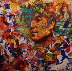 John Lennon Acrylique sur toile. 100/100 cm