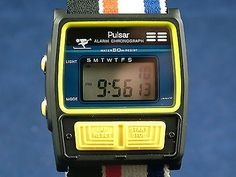 Vintage Pulsar Quartz Gents Watch Circa 1980s New Old Stock NOS + Orig Box