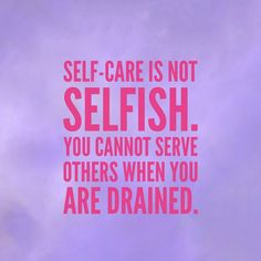 Taking care of you is not a selfish act.  Self-care is so important to your happiness and well-being.  Learn how self-care can improve your health in this video.