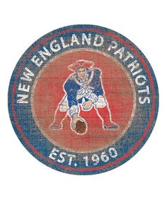 This New England Patriots Heritage Logo Sign is perfect! #zulilyfinds
