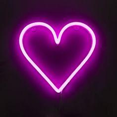 Wandlamp Neon hart roze