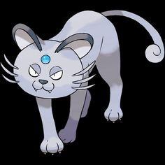 "053-Alolan Persian, classy cat Pokemon. Type-dark. Ability-but coat or technician, rattled, hidden ability. Height-3'07"". Weight-72.8 lbs."