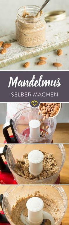 Wer Mandeln mag, wird Mandelmus lieben. Am besten schmeckt es natürlich selbstgemacht. Und das ist leichter als du denkst.