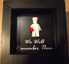Lego Minifigure Remembrance Day, Poppy Day