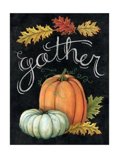 Tangletown Fine Art 'Autumn Harvest III' by Mary Urban Painting Print on Wrapped Canvas Size: Fall Canvas Painting, Autumn Painting, Autumn Art, Painting Prints, Fall Paintings, Art Print, Wood Paintings, Pumpkin Painting, Tole Painting