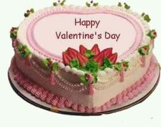 tubes saint valentin - Page 20 Valentine Cake, Happy Valentines Day, Heart Shaped Cakes, Let Them Eat Cake, Heart Shapes, Strawberry, Desserts, Food, Chennai