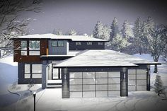 Find your dream modern style house plan such as Plan which is a 2321 sq ft, 4 bed, 2 bath home with 3 garage stalls from Monster House Plans. Two Story House Plans, Garage House Plans, Ranch House Plans, New House Plans, Modern House Plans, Modern House Design, Car Garage, Tudor Style Homes, Ranch Style Homes
