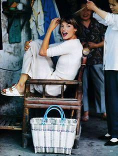 Eastern Light - Vogue US (1993)Linda Evangelista by Arthur Elgort