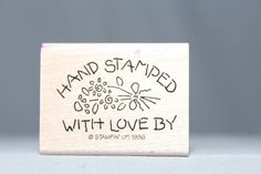 Floral Hand Stamped w/ Love by: Stampin Up! Wood & Foam Backed Rubber Stamp       http://HomeTownVintage.com/ Great Sale 50% off All Our Stamps!! Lots of Vintage Scrap Booking Stamps From PSX (Personal Stamp Exchange), Hero Arts, Fearless Designs, Stampin Up!, DOTS and many more  Also Find us on:  http://hometownvintage.com http://autopartspuller.com @HomeTownVintage @autopartspuller @preppershowto http://facebook.com/hometownvtg http://facebook.com/AutoPartsPuller