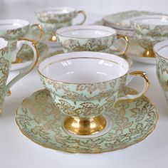 Imperial vintage cup and saucer trio
