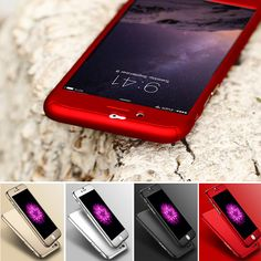 Floveme 대한 iphone 6s 7 플러스 case 대한 iphone 6 6s plus 7 플러스 5 5 초 se 전면 투명 유리 필름 다시 360 360도 충격 방지 커버