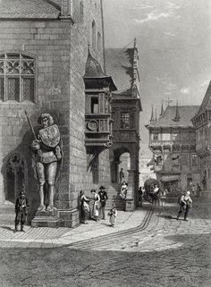 Town Hall, Halberstadt, Engraved By E. Joubert, Printed By Cassell & Company Ltd Giclee Print Poster by Carl Friedrich Heinrich Werner