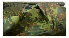 Fabrics-City Schwarz/Braun/Grün Bundeswehr Land Camouflage Stoff Baumwolle…