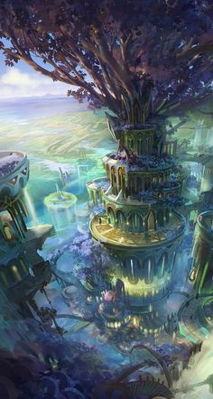 Ehedell Wide open Configuration settings in your iPhone Visiting Configuration settings, pushing Background, and then Fantasy Artwork, Fantasy Art Landscapes, Fantasy Concept Art, Landscape Art, Beautiful Landscapes, Fantasy City, Fantasy Castle, Fantasy Kunst, Fantasy Places