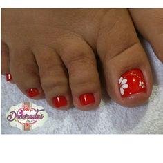- Best ideas for decoration and makeup - Pedicure Nail Art, Nail Designs Toenails, Toenail Art Designs, Nail Manicure, Flower Pedicure Designs, Shellac Nail Colors, Toe Nail Color, Toe Nail Art, Pretty Toe Nails
