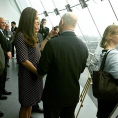 The Duchess of Cambridge enjoys the view from the top of the Spinnaker Tower in Portsmouth