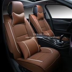 86.25$  Buy here - http://aligy6.worldwells.pw/go.php?t=32764411595 - (Only 2 front) Luxury leather car cushion seat covers universal for Renault Logan Sandero car-styling car seat protector 86.25$