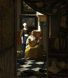 La carta  Johannes Vermeer Rijksmuseum, Ámsterdam