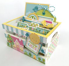 Easter Scrapbook Photo Crate Kit or Premade Pre-Cut with Instructions Spring