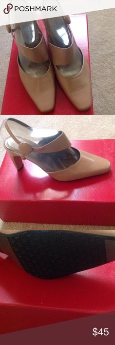 New Bellini Zola Heels Beautiful pair of Zola heels by Bellini.  They're a rich carmel color, never worn. Shoes Heels