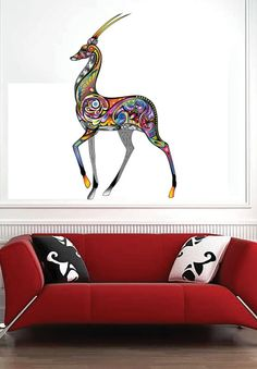 Colorful Gazelle Color Animals  Vinyl Wall Decal by uBerDecals