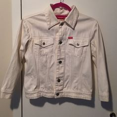 Esprit 3/4 sleeve denim jacket Esprit. Cute and trendy. Off white. 3/4 sleeve denim jacket. Can wash before sending. ESPRIT Jackets & Coats Jean Jackets