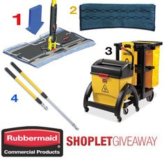 Our weekly giveaway for this week is sponsored by Rubbermaid Commercial Products! Click on the link to read more! Brought to you by Shoplet.com - Everything for your business. #Giveaway